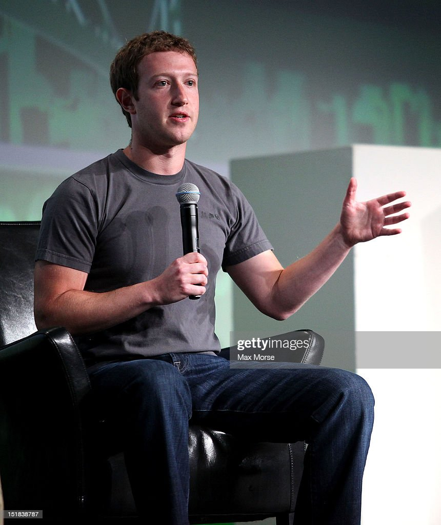 Facebook CEO Mark Zuckerberg speaks to the TechCrunch Disrupt SF 2012 conference on September 11 2012 in San Francisco California