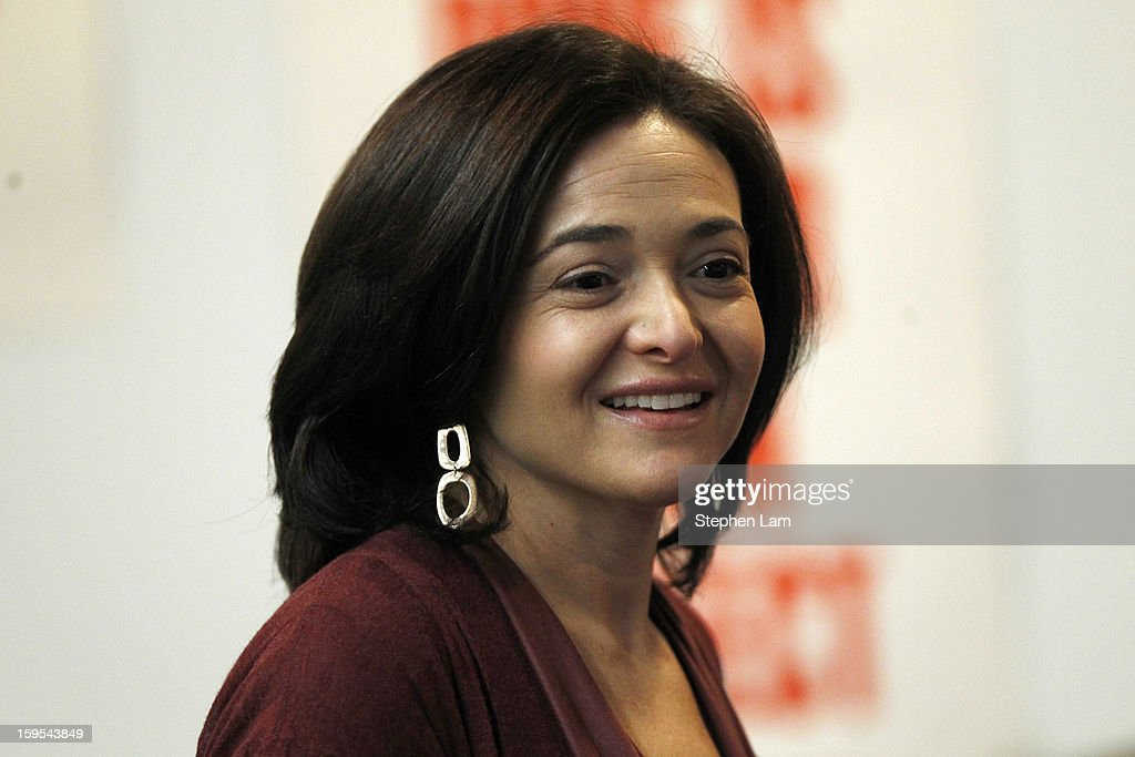 Facebook Chief Operating Officer Sheryl Sandberg greets members of the media prior introducing Graph Search features during a presentation January 15, 2013 in Menlo Park, California. Facebook announced a search function that works within the website and allows users to search content that people have shared with you or is public.