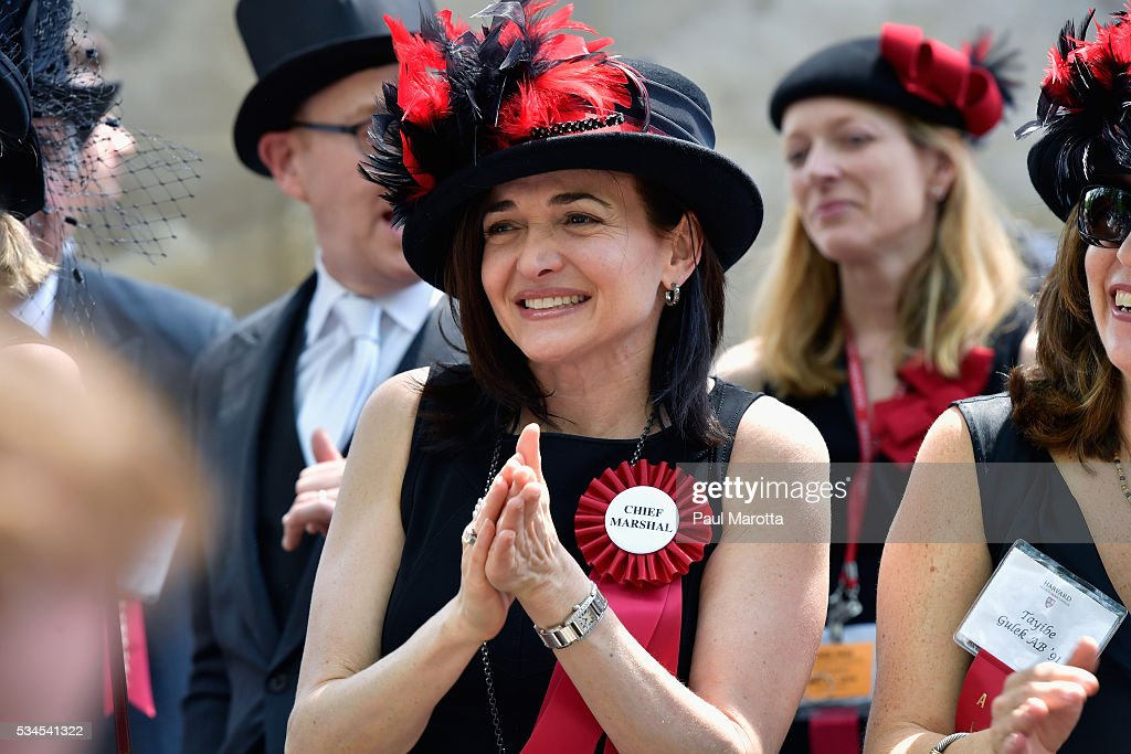 Facebook Chief Operating Officer <a gi-track='captionPersonalityLinkClicked' href=/galleries/search?phrase=Sheryl+Sandberg&family=editorial&specificpeople=5922850 ng-click='$event.stopPropagation()'>Sheryl Sandberg</a> serves as Chief Marshal at the Annual Meeting of the Harvard Alumni Association at the 365th Harvard University Commencement Afternoon Exercises on May 26, 2016 in Cambridge, Massachusetts.