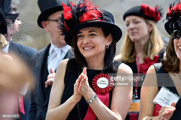 Facebook Chief Operating Officer Sheryl Sandberg serves as Chief Marshal at the Annual Meeting of the Harvard Alumni Association at the 365th Harvard...
