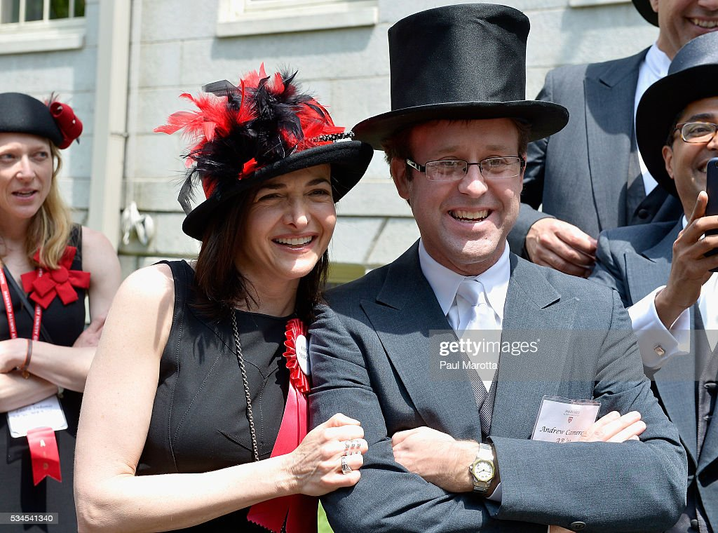 Facebook Chief Operating Officer Sheryl Sandberg serves as Chief Marshal at the Annual Meeting of the Harvard Alumni Association at the 365th Harvard University Commencement Afternoon Exercises on May 26, 2016 in Cambridge, Massachusetts.