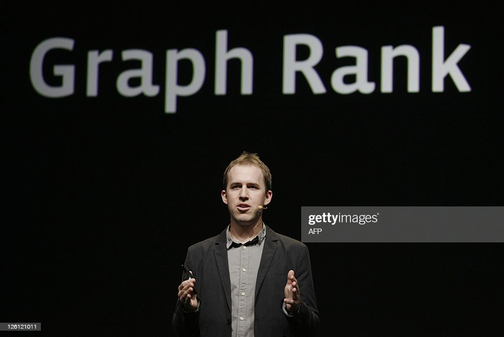 Facebook Chief Technology Officer Bret Taylor explains some details of Facebook's new application Open Graph during a keynote at the Facebook f8 Developer Conference at the San Francisco Design Center in San Francisco on September 22, 2011 in California. AFP PHOTO/Kimihiro Hoshino