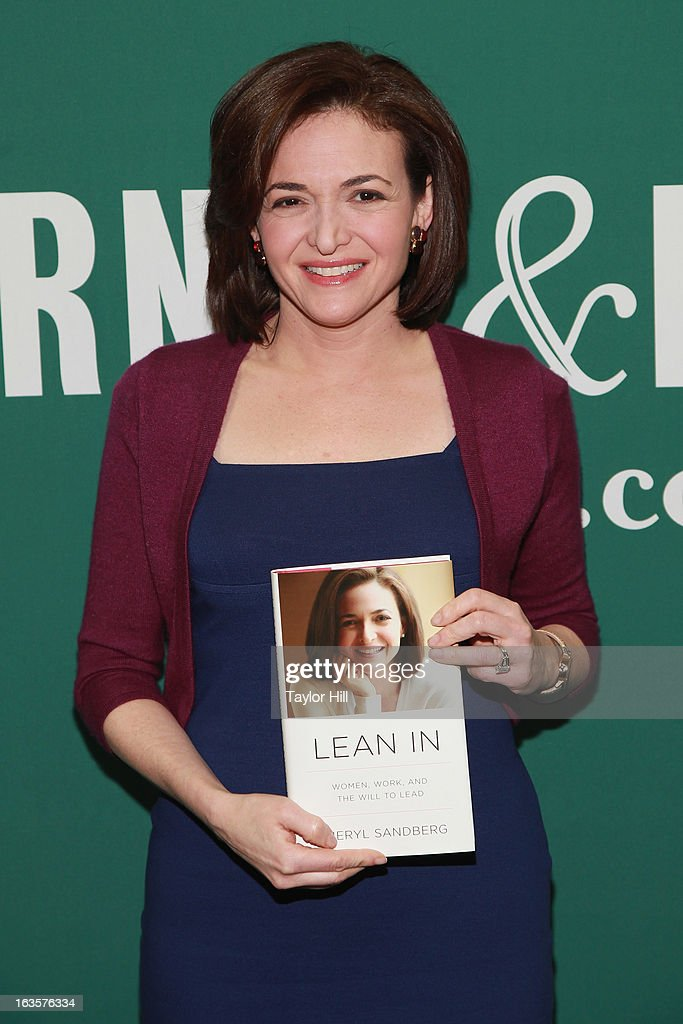 Facebook COO <a gi-track='captionPersonalityLinkClicked' href=/galleries/search?phrase=Sheryl+Sandberg&family=editorial&specificpeople=5922850 ng-click='$event.stopPropagation()'>Sheryl Sandberg</a> attends a talk to promote her book Lean In: Women, Work, And The Will To Lead With <a gi-track='captionPersonalityLinkClicked' href=/galleries/search?phrase=Sheryl+Sandberg&family=editorial&specificpeople=5922850 ng-click='$event.stopPropagation()'>Sheryl Sandberg</a> & Chelsea Clinton at Barnes & Noble Union Square on March 12, 2013 in New York City.