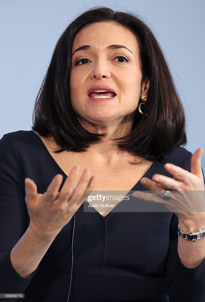 Facebook COO <a gi-track='captionPersonalityLinkClicked' href=/galleries/search?phrase=Sheryl+Sandberg&family=editorial&specificpeople=5922850 ng-click='$event.stopPropagation()'>Sheryl Sandberg</a> speaks during the President's Council on Jobs and Competitiveness High Growth Business and Entrepreneurship Listening and Action Session at the VMware headquarters on August 2, 2011 in Palo Alto, California. Jobs Council members, administration officials and Silicon Valley leaders spoke with entrepreneurs about how public and private sectors can partner to create jobs through innovation.