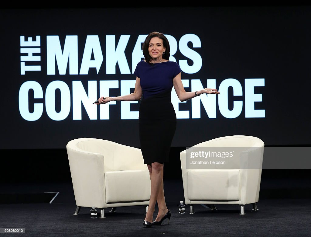 Facebook COO <a gi-track='captionPersonalityLinkClicked' href=/galleries/search?phrase=Sheryl+Sandberg&family=editorial&specificpeople=5922850 ng-click='$event.stopPropagation()'>Sheryl Sandberg</a> speaks on stage at the 2016 MAKERS Conference Day 2 at the Terrenea Resort on February 2, 2016 in Rancho Palos Verdes, California.