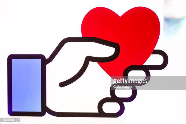Facebook Emoticon seen during the NGO Day Facebook dla organizacji non profit on June 07 2017 in Warsaw Poland During the meeting the President of...