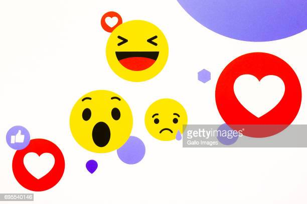 Facebook Emoticons seen during the NGO Day Facebook dla organizacji non profit on June 07 2017 in Warsaw Poland During the meeting the President of...