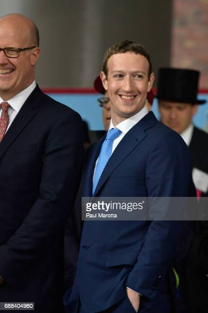 Facebook Founder and CEO Mark Zuckerberg delivers the commencement address at the Alumni Exercises at Harvard's 366th commencement exercises on May...