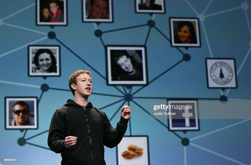 Facebook founder and CEO Mark Zuckerberg delivers the opening keynote address at the f8 Developer Conference April 21, 2010 in San Francisco, California. Zuckerberg kicked off the the one day conference for developers that features breakout sessions on the future of social technologies.