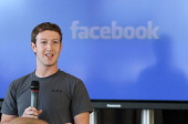Facebook founder and CEO Mark Zuckerberg speaks during a special event announcing a new Facebook email messaging system at the St Regis Hotel on...