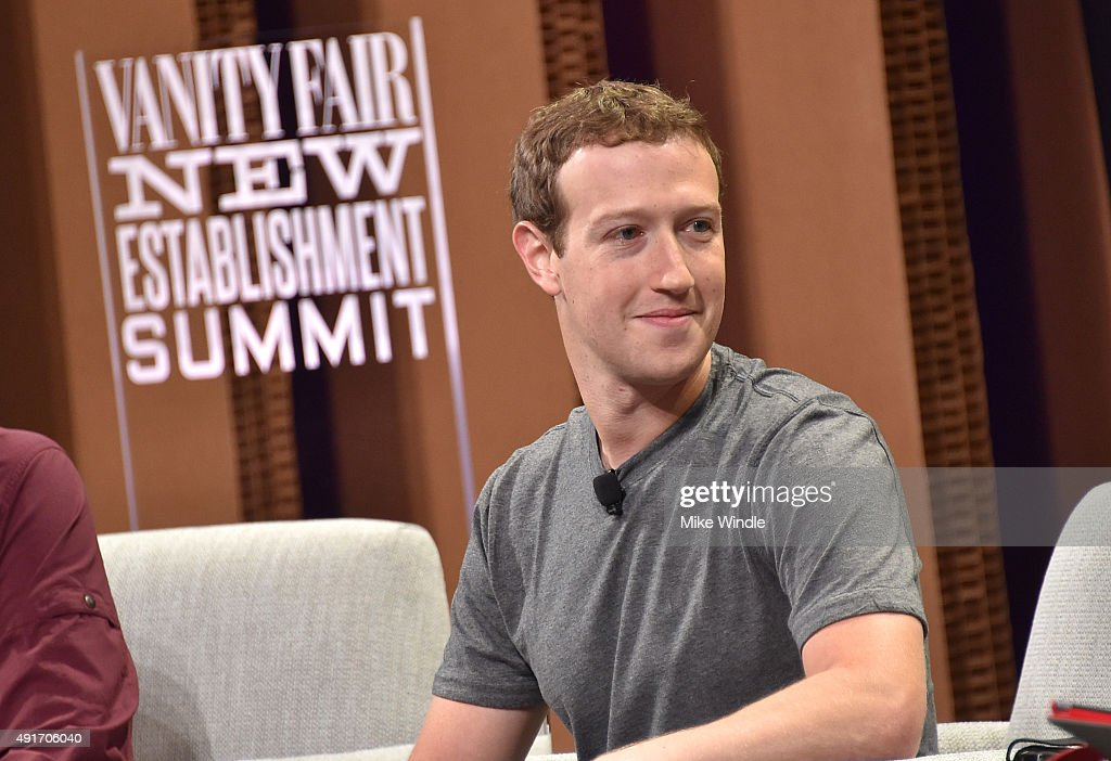 Facebook Founder, Chairman and CEO <a gi-track='captionPersonalityLinkClicked' href=/galleries/search?phrase=Mark+Zuckerberg&family=editorial&specificpeople=4841191 ng-click='$event.stopPropagation()'>Mark Zuckerberg</a> speaks onstage during 'Now You See It—The Future of Virtual Reality' at the Vanity Fair New Establishment Summit at Yerba Buena Center for the Arts on October 7, 2015 in San Francisco, California.