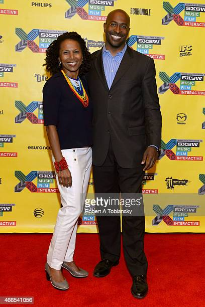 Facebook Global Director of Diversity Maxine Williams and Civil rights activist Van Jones attend '#YesWeCode From The 'Hood To Silicon Valley' during...