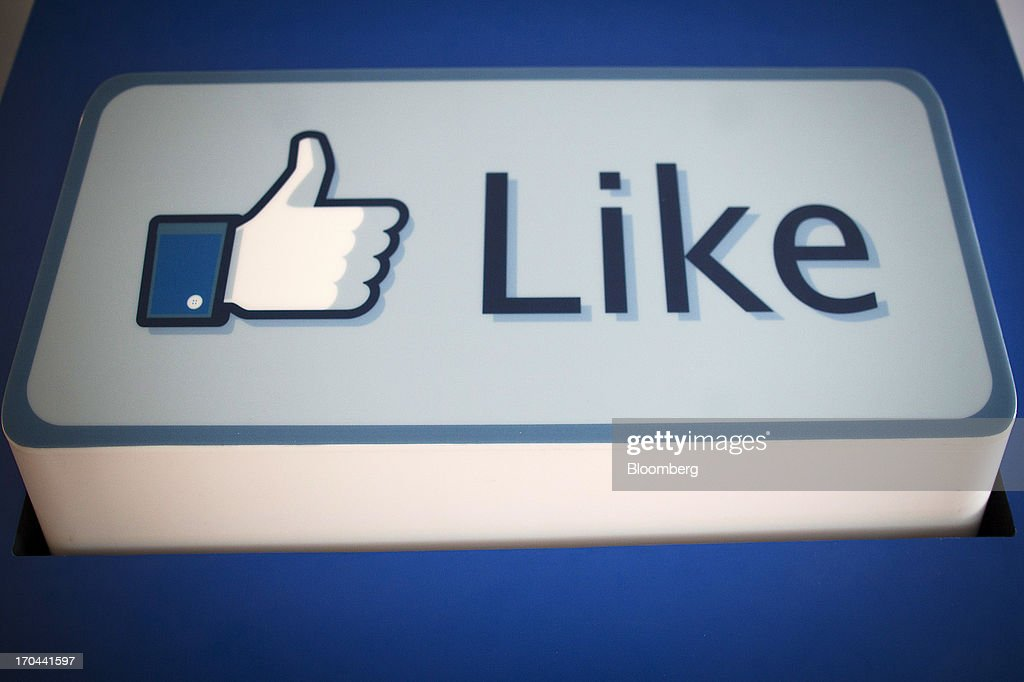 A Facebook Inc. 'Like' logo sits on display at the company's new data storage center near the Arctic Circle in Lulea, Sweden, on Wednesday, June 12, 2013. The data center is Facebook's first outside the U.S., poised to handle all data processing from Europe, Middle East and Africa and the server hub is largest of its kind in Europe, and most northerly of its magnitude anywhere on earth. Photographer: Simon Dawson/Bloomberg via Getty Images