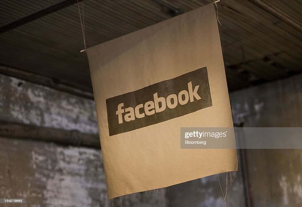 Facebook Inc. signage is displayed at the Brooklyn Beta conference in the Brooklyn borough of New York, U.S., on Friday, Oct. 12, 2012. Brooklyn Beta is a small web conference aimed at gathering web designers, developers, and entrepreneurs together to discuss meaningful problems in the industry. Photographer: Mark Ovaska/Bloomberg via Getty Images
