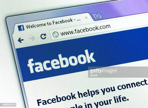page Facebook sur la fenêtre de votre navigateur