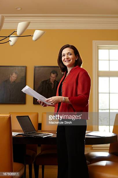Facebook 's vicepresident for global online sales and operations Sheryl Sandberg is photographed for Fortune Magazine on August 21 2009 in Palo Alto...