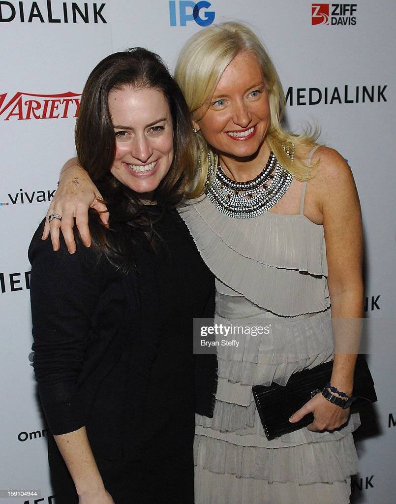 Facebook Vice President of Global Marketing Solutions Carolyn Everson (R) and guest arrive at the MediaLink CES Kickoff event at the Tryst nightclub at Wynn Las Vegas on January 7, 2013 in Las Vegas, Nevada.