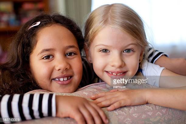 Faces of Australian Kids Girls Indoors