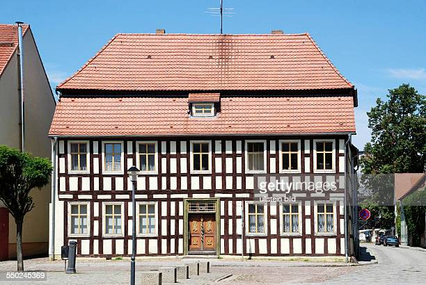 Fachwerkhaus in der maerkischen Stadt Dahme/Mark Halftimbered house in the Brandenburg town of Dahme/Mark