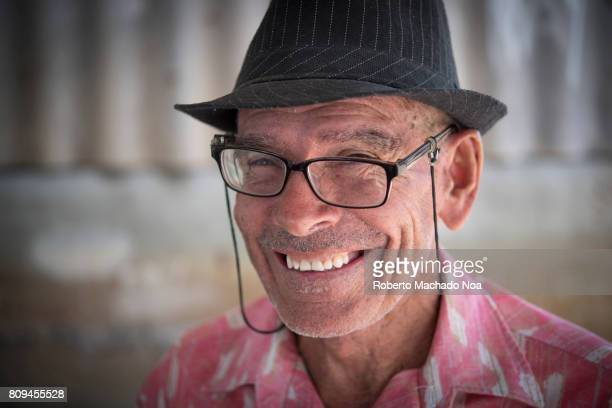 Facial expression of senior Cuban man