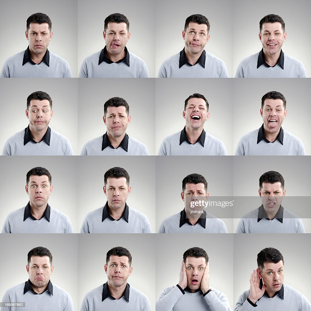 Gesichtsausdruck : Stock-Foto