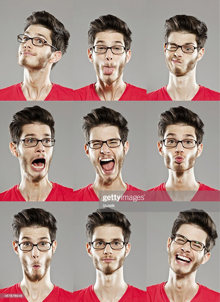 Gesichtsausdrücke, mehrere Bilder : Stock-Foto