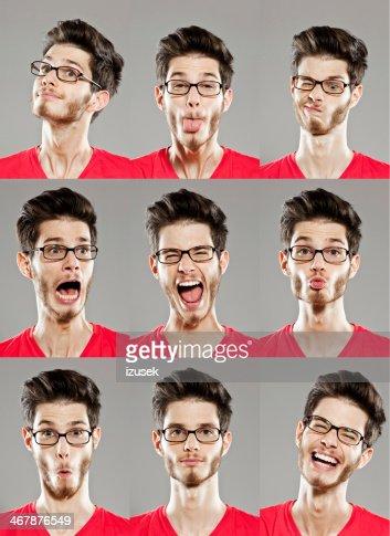 expressions du visage, d'images multiples