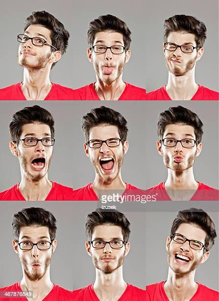 Gesichtsausdrücke, mehrere Bilder