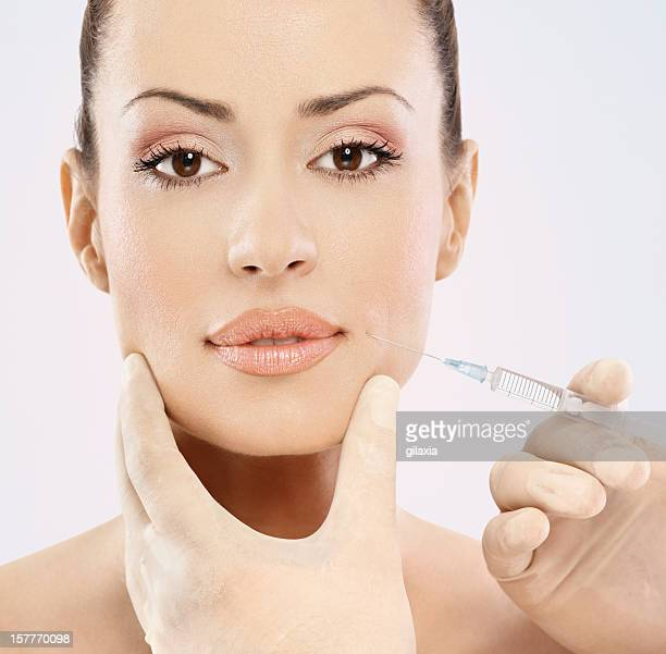Facial filler treatment.