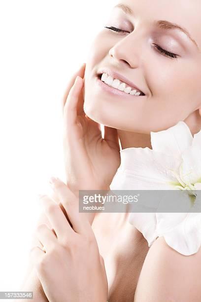 Gesichtsbehandlung, massage