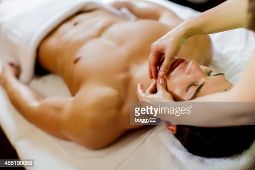 Facial massage : Stock Photo