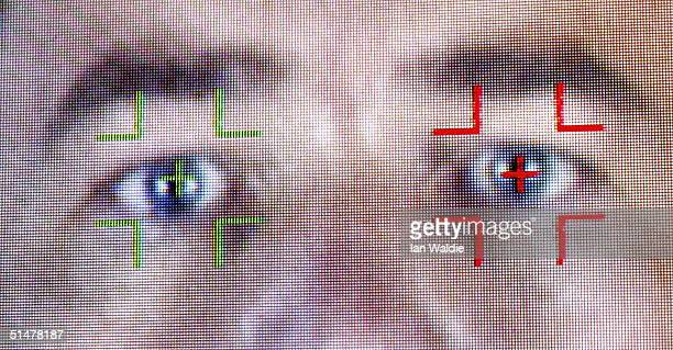 A facial recognition program is demonstrated during the Biometrics 2004 exhibition and conference October 14 2004 in London The conference will...