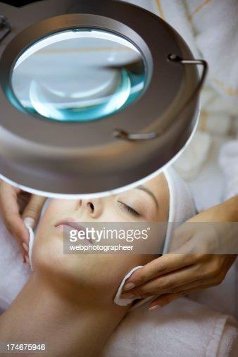 Facial treatment : Stock Photo