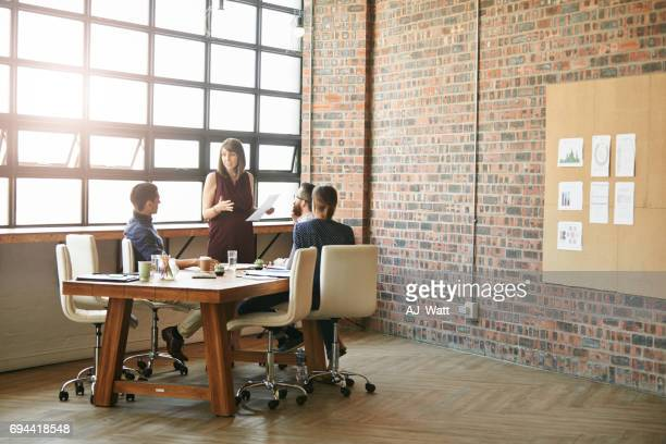 Facilitating their meeting like the pro that she is