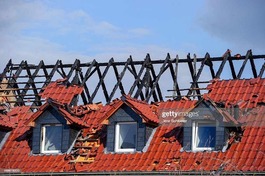 A facility for housing refugees which was destroyed by an arson attack is seen on April 5 2015 in Troeglitz Germany Troeglitz a village with a...