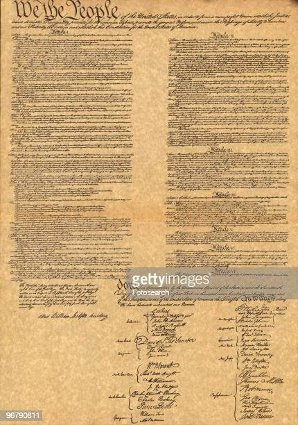 Facimile of The Constitution For The United States Of America Dated September 17 1787