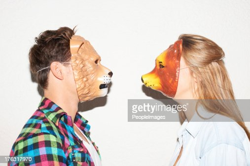 Facing off with animalistic intent