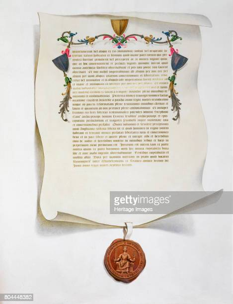 Facsimile edition of the Magna Carta English charter 1215 Magna Carta also called Magna Carta Libertatum limited the rights of the monarch and is...
