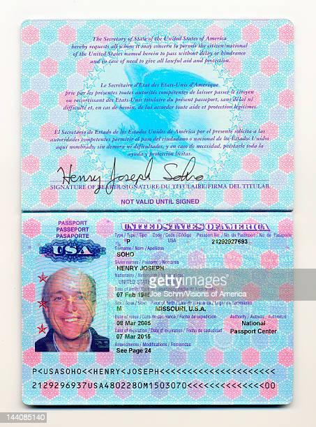 A facsimile of a US passport