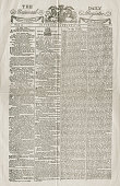 A facsimile of the front page of the first issue of The Daily Universal Register dated 1st January 1785 Three years later John Walter the paper's...