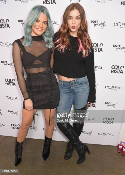 Factor 2016 winner Louisa Johnson and Barbara Palvin pose together as Louisa is announced as the face of L'Oreal Paris' new hair colour brand...