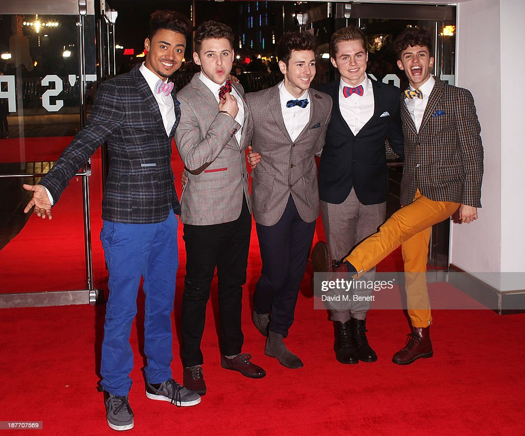 X factor band Kingsland Road attend the UK Premiere of 'The Hunger Games: Catching Fire' at Odeon Leicester Square on November 11, 2013 in London, England.