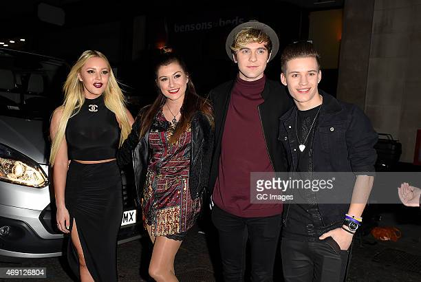 Factor band 'Only The Young' attend James Ingham's Jog on to Cancer Research UK event at Kensington Roof Gardens on April 9 2015 in London England