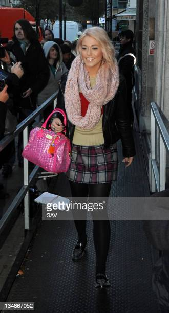 Factor contestant Amelia Lily pictured at Radio 1 on December 5 2011 in London England