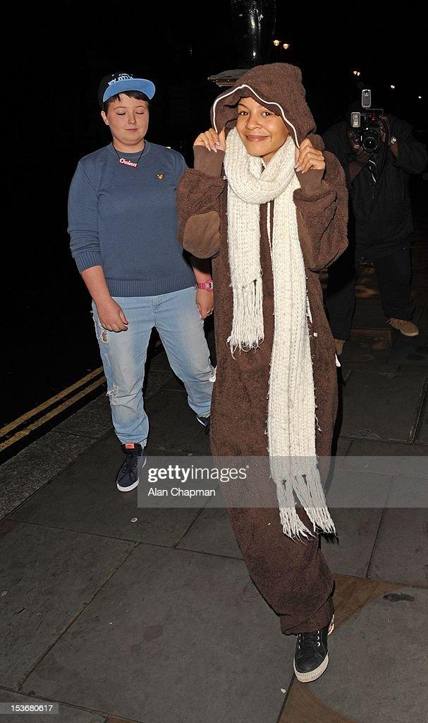 X Factor contestant Jade Ellis sighting on October 8, 2012 in London, England.