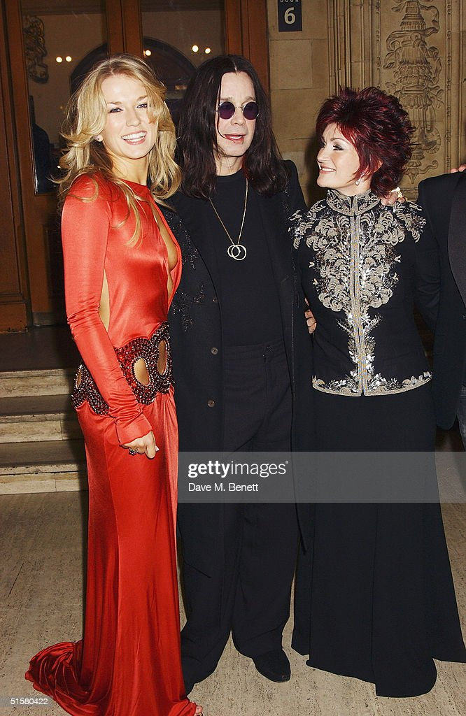 'X Factor' contestant Roberta Howett, Ozzy Osbourne and Sharon Osbourne arrive at the '10th Anniversary National Television Awards' at the Royal Albert Hall on October 26, 2004 in London. The star-studded awards ceremony awards prizes as voted for by members of the public.