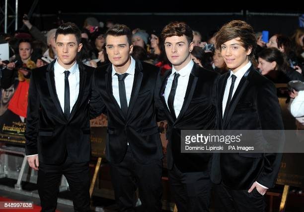 X Factor contestants Jamie Hamblett Josh Cuthbert Jaymi Hensley and George Shelley of Union J arriving for the premiere of The Twilight Saga Breaking...