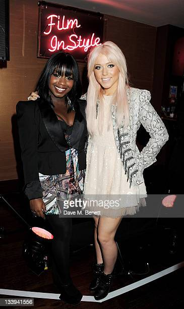 X Factor contestants Misha B and Amelia Lily attend 'Film InStyle' in association with Land Rover celebrating InStyle Magazine's 10th Anniversary at...