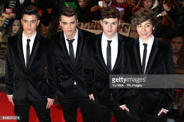 X Factor contestants Union J Jamie Hamblett Josh Cuthbert Jaymi Hensley and George Shelley attending the UK film premiere of The Twilight Saga...