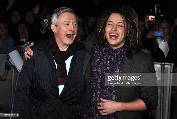 X Factor finalist Luke Friend and his mentor Louis Walsh arrive at The Great Hall in the University of Exeter for his homecoming gig